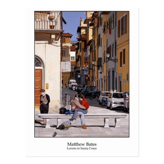 Postal Amantes en Santa Croce