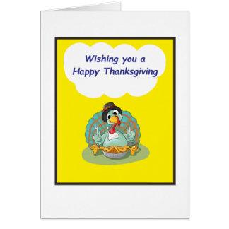 Postal amarilla de la acción de gracias