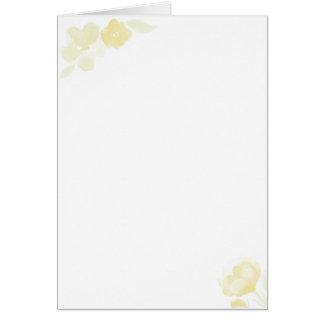 postal amarilla de la flor tarjeta de felicitación