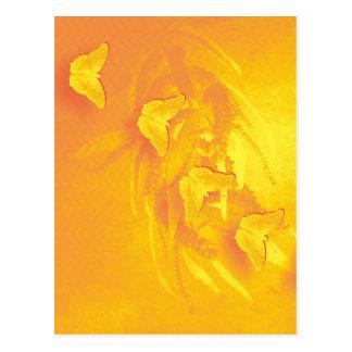 Postal amarilla vibrante de la vertical de las