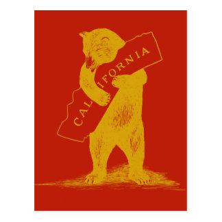 Postal Ámele California--Rojo y oro