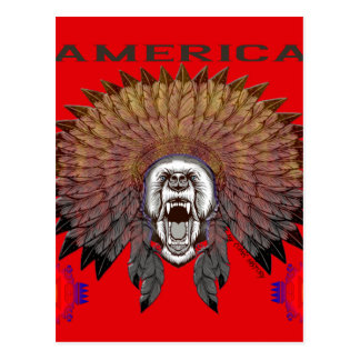 Postal America bear face bears