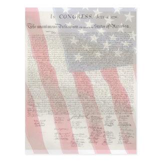 Postal americana de los patriotas