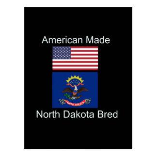 """Postal """"Americano llevado. Dakota del Norte crió"""" diseño"""