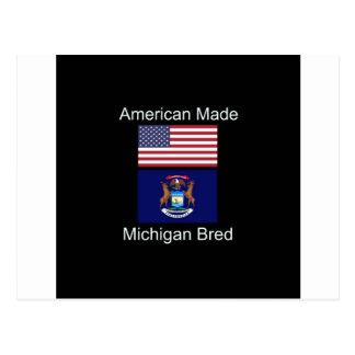"""Postal """"Americano llevado. Michigan crió"""" diseño de la"""