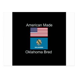 """Postal """"Americano llevado. Oklahoma crió"""" diseño de la"""