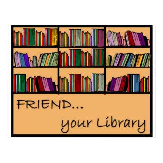 Postal Amigo su biblioteca