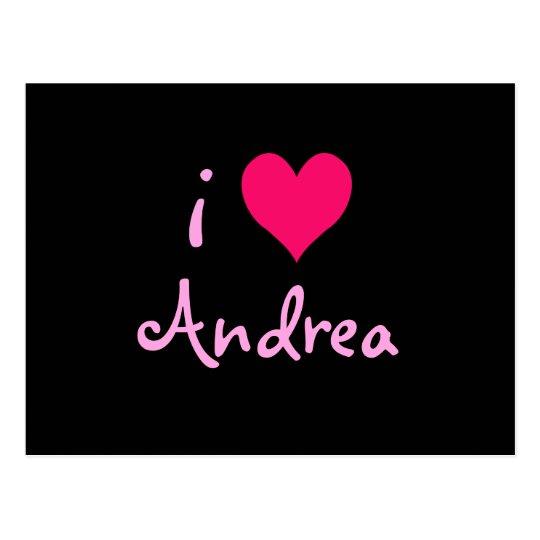 Postal Amo a Andrea