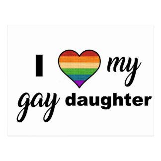 Postal Amo a mi hija gay
