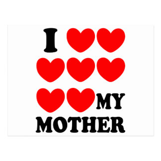 Postal Amo a mi madre