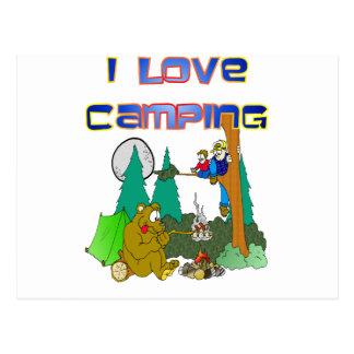 Postal Amo el acampar