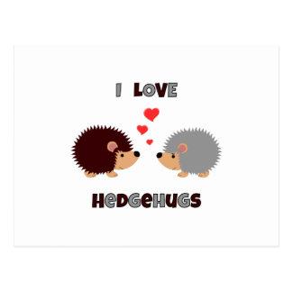 Postal Amo el erizo de los hedgehugs