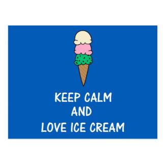 Postal Amo el helado