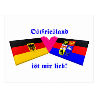 Postal Amo el lieb de los ist MIR de Ostfriesland