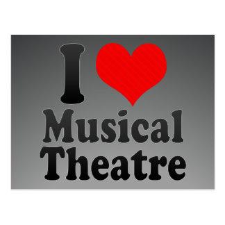Postal Amo el teatro musical