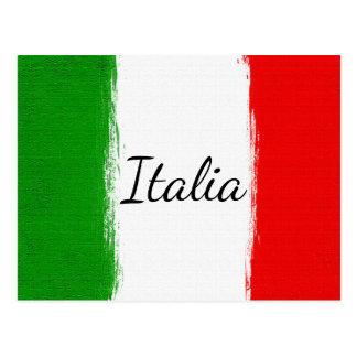Postal Amo Italy.Flag de Italia