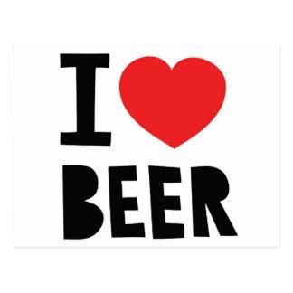 Postal Amo la cerveza