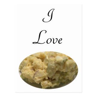 Postal Amo la ensalada de patata