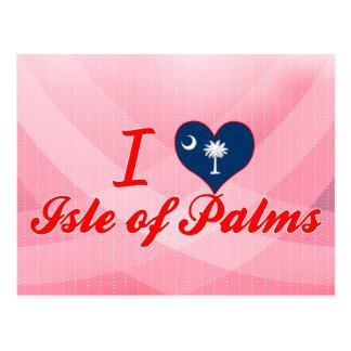 Postal Amo la isla de palmas, Carolina del Sur
