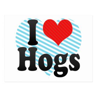 Postal Amo los cerdos