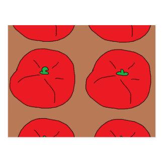 Postal amo los tomates jugosos rojos