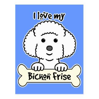 Postal Amo mi Bichon Frise