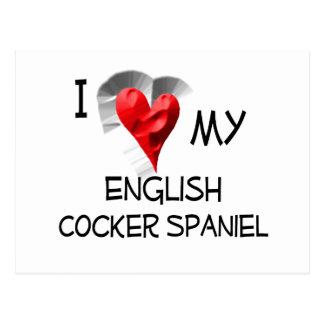 Postal Amo mi cocker spaniel inglés