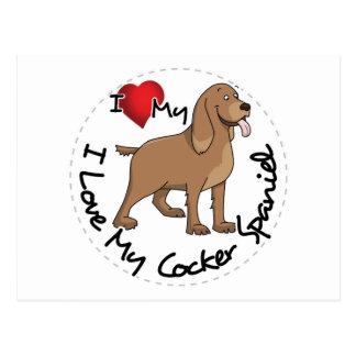 Postal Amo mi perro de cocker spaniel