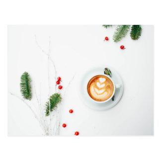Postal Amo navidad un Latte