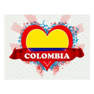 Postal Amor Colombia del vintage I