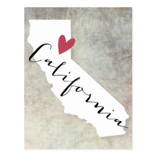 Postal Amor de California