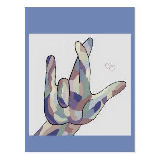 Postal AMOR del ASL I REALMENTE USTED dril de algodón