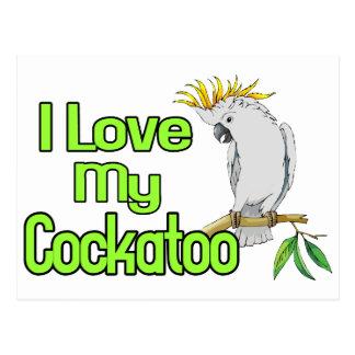 Postal Amor del Cockatoo