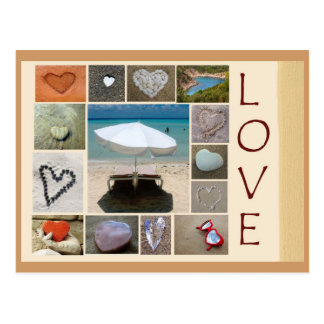 Postal Amor en la playa