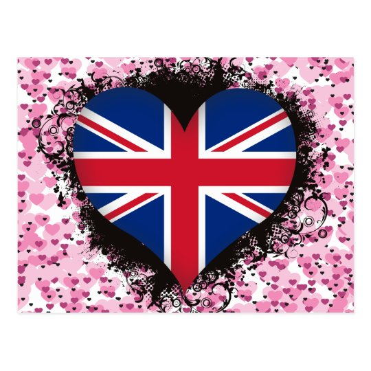 Postal Amor Reino Unido del vintage I