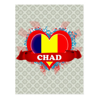 Postal Amor República eo Tchad del vintage I