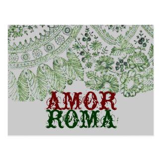 Postal Amor Roma con el cordón verde