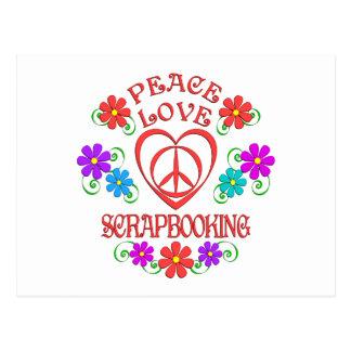 Postal Amor Scrapbooking de la paz