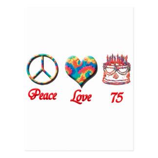 Postal Amor y 75 de la paz