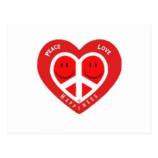 Postal Amor y felicidad II de la paz