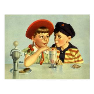 Postal Amores de la niñez