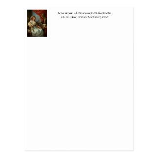 Postal Ana Amalia de Brunswick-Wolfenbuttel 1788