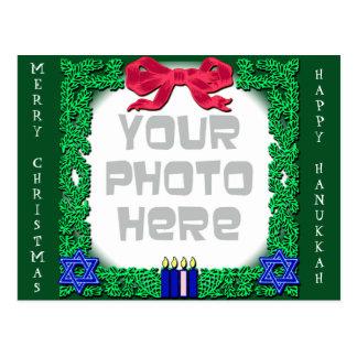 Postal Añada su propio navidad de la foto/postal de