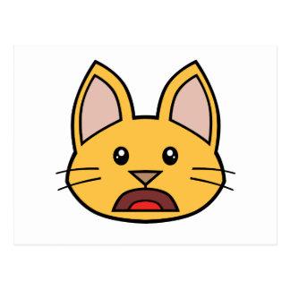 Postal anaranjada 01 del gato FACE0000004