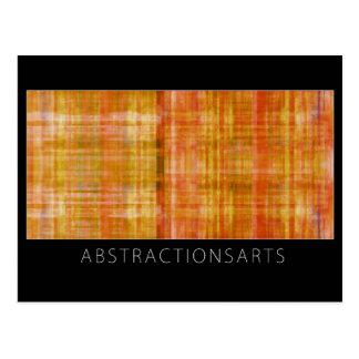 Postal anaranjada del arte moderno