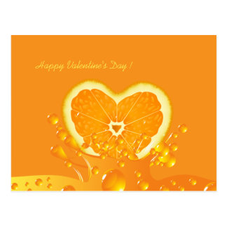 Postal anaranjada jugosa del el día de San