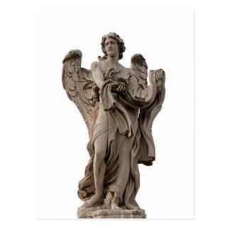 Postal Ángel con la ropa y los dados, Roma