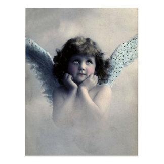 Postal Ángel de la foto del vintage