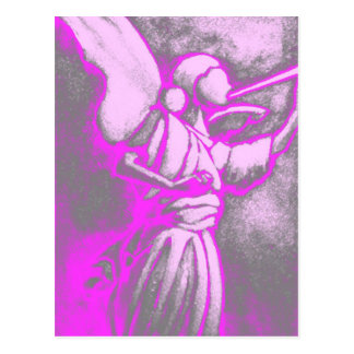 Postal Ángel de las rosas fuertes