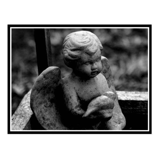 Postal Ángel del jardín